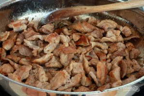 Мясо с грибами с сливочном соусе - фото шаг 4