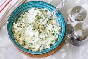 Творожный сыр с зеленью - фото шаг 4