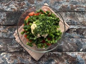 Салат из стручковой фасоли с мясом - фото шаг 9