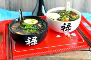 Мисо суп с курицей - фото шаг 7
