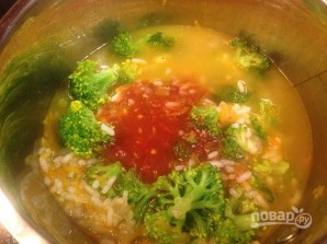 Томатный суп с рисом и брокколи - фото шаг 7