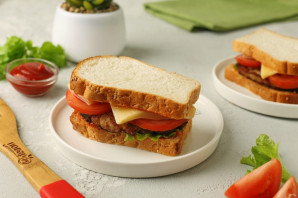 Сэндвич с котлетой - фото шаг 10