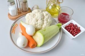 Салат с жареными овощами и гранатом - фото шаг 1
