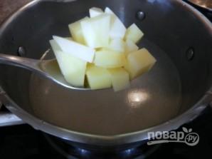 Сырный суп с лососем - фото шаг 8