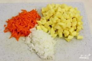 Сливочный суп с креветками - фото шаг 1