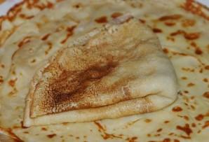 Блинчики с ливерной колбасой - фото шаг 7