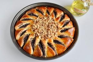 Пирог с шоколадной пастой, маком и орехами - фото шаг 10