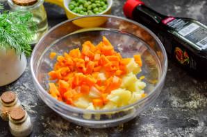 Винегрет с соевым соусом - фото шаг 3
