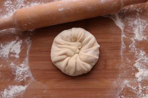Хачапури с творогом на сковороде - фото шаг 9