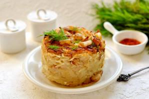 Картофельная бабка с салом в духовке - фото шаг 9