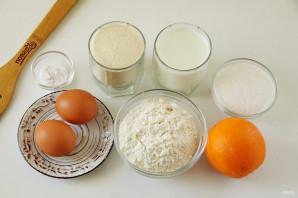 Манник на кефире с апельсином - фото шаг 1