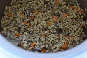 Рис с грибами, овощами и шпинатом - фото шаг 7