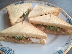 Бутерброды с рыбными консервами - фото шаг 4