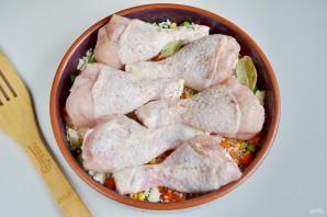 Куриные ножки, запеченные с рисом и овощами - фото шаг 6