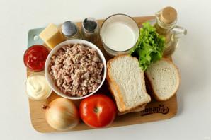 Сэндвич с котлетой - фото шаг 1