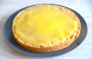 Лимонный торт с белковым кремом - фото шаг 17