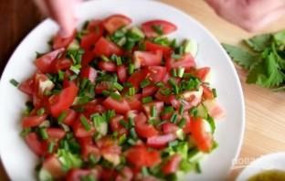 """Салат с лавашом """"Фатуш"""" - фото шаг 3"""