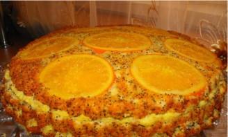 Торт апельсиновый с маком  - фото шаг 4
