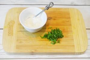 Оладьи из батата с творогом и зеленью - фото шаг 8
