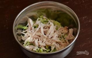 Рецепт салата с пекинской капустой и курицей - фото шаг 2