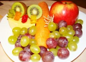 Елочка из фруктов - фото шаг 1