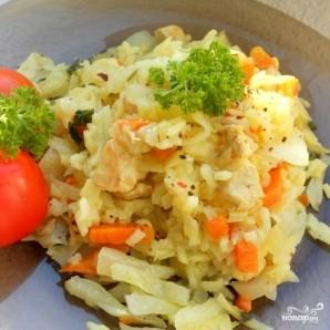 Капуста с рисом в мультиварке - фото шаг 4