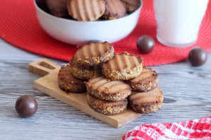 Печенье с молочным шоколадом - фото шаг 18