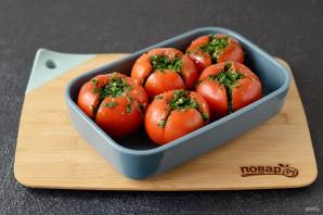 Соленые фаршированные помидоры - фото шаг 5