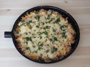 Пицца из хлеба на сковороде - фото шаг 9