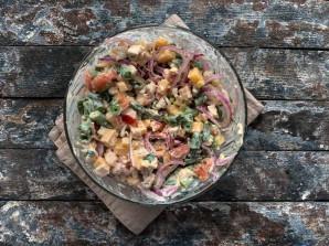 Салат из стручковой фасоли с мясом - фото шаг 10