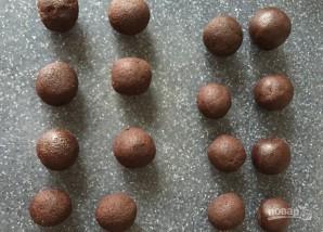 Шоколадное печенье с начинкой - фото шаг 5