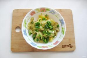 Картофельный салат с зеленым луком - фото шаг 4