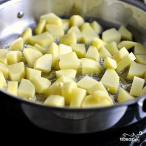 Жареная картошка с мясом - фото шаг 2