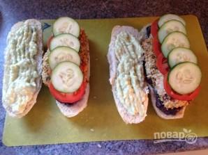 Сэндвичи с фасолевым пюре и куриным мясом - фото шаг 9