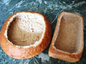 Салат в хлебной корзинке - фото шаг 5