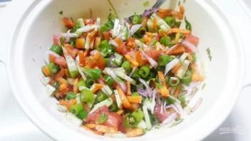 Салат из курицы с шампиньонами - фото шаг 5