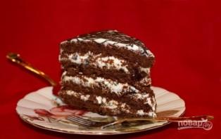 Рождественский торт с черносливом - фото шаг 14