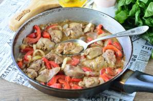 Куриная печень с болгарским перцем - фото шаг 9
