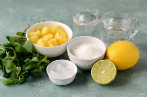 Ананасовый лимонад - фото шаг 1
