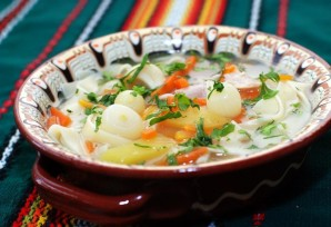 Суп куриный с лапшой домашней - фото шаг 4