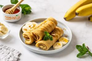 Постные блины с бананом - фото шаг 6