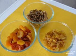Рулет из сухофруктов и орехов - фото шаг 2