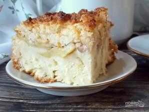 Творожный пирог с яблоками и карамелью - фото шаг 15