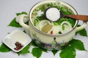 Салат из огурцов и лука на зиму - фото шаг 6