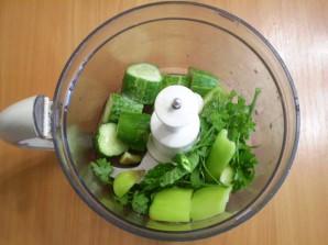 Зеленый коктейль для сыроедов - фото шаг 3