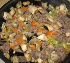 Тушеные овощи с фаршем - фото шаг 3