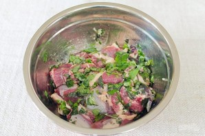 Баранина маринованная и запеченная в рукаве с овощами - фото шаг 3