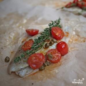 Белая рыба в конверте с каперсами - фото шаг 4