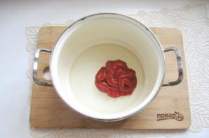 Лечо из кабачков и перцев с томатной пастой - фото шаг 2