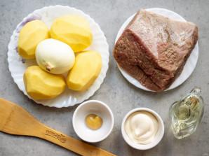 Лосятина с картошкой в духовке - фото шаг 1